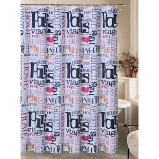 Josephine Paris Glamour Chic Canvas Fabric Single Shower Curtain with Roller Hook