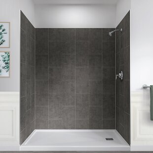 Jetcoat™ 78 x 60 x 32 Five Panel Shower Wall By Hazelwood Home