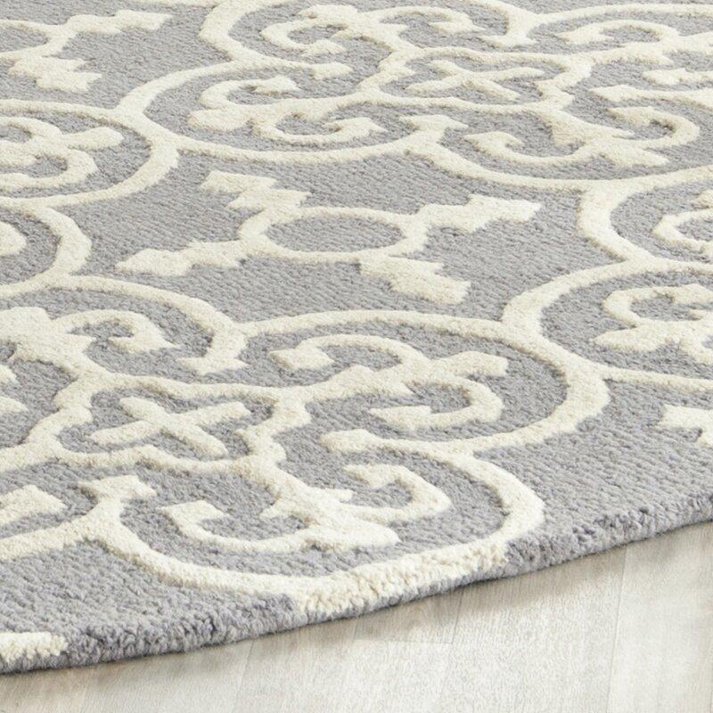 Nicholls Gray Hand Woven Wool Area Rug