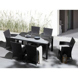 Malmesbury 7 Piece Dining Set with Cushions (Set of 7)