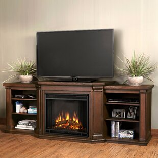 Valmont TV Stand for TVs up to 75 with Electric Fireplace by Real Flame