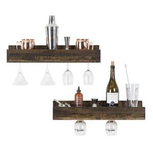 Tristen 5 Bottle Wall Mounted Wine Bottle Rack (Set of 2) by Loon Peak