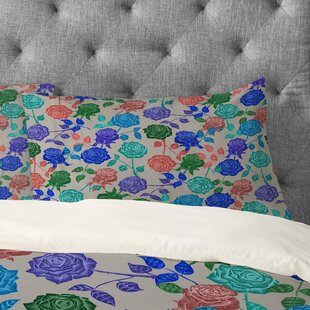 Bianca Green Roses Pillowcase