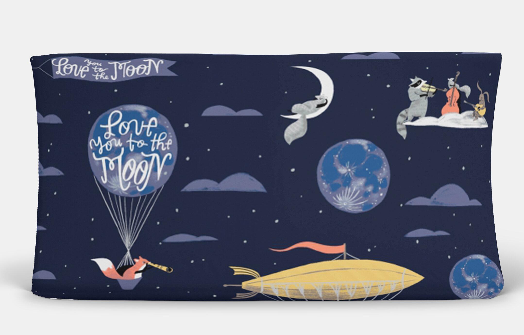 Harriet Bee Burtrum Love You To The Moon Changing Pad Cover Wayfair