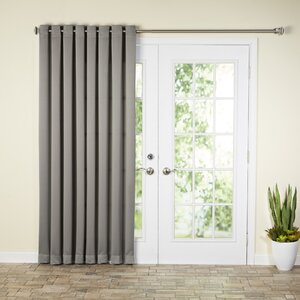 Wayfair Basics Solid Room Darkening Grommet Extra Wide Patio Door Curtain Panel