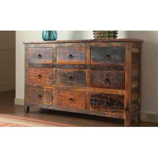 Chapdelaine 9 Drawer Accent Cabinet by Rosecliff Heights