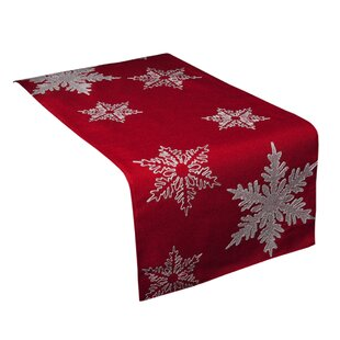 Snowflake Embroidered Christmas Table Runner