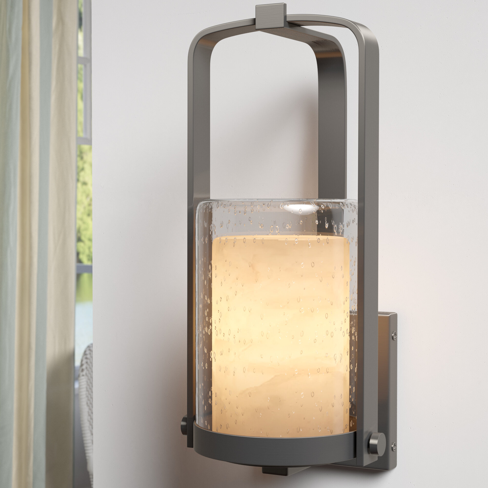 Longshore Tides Gilreath Outdoor Armed Sconce Wayfair