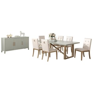 Anguiano 8 Piece Dining Set by Everly Quinn
