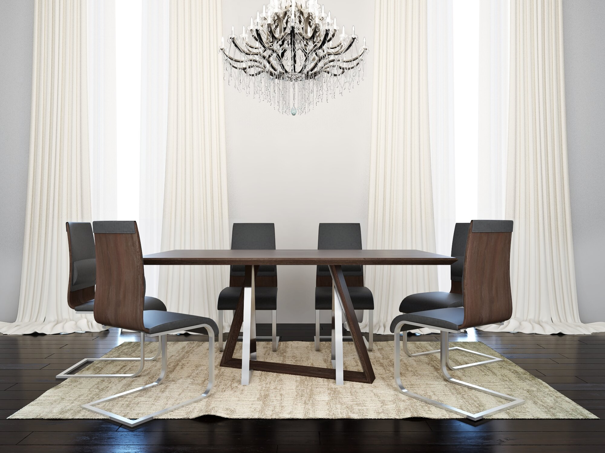 Orren Ellis Mccane Contemporary 7 Piece Dining Set | Wayfair