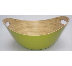 Nori Oval Bamboo Rice Bowl with Handles