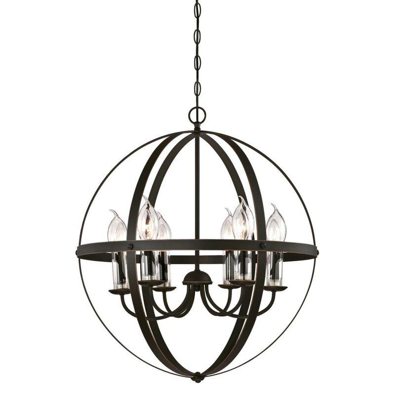 Gracie Oaks Genna 6 Light Globe Chandelier Reviews