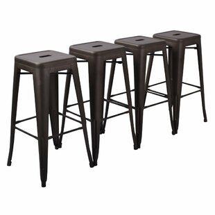 Davin 30 Metal Bar Stools (Set of 4) by 17 Stories