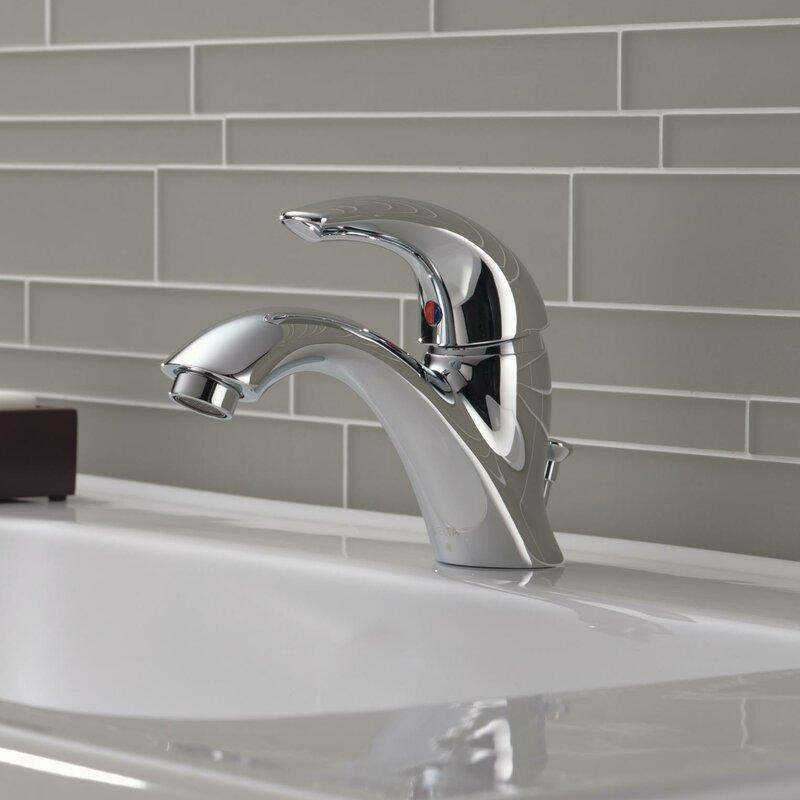c spout series single hole bathroom faucet with single handle