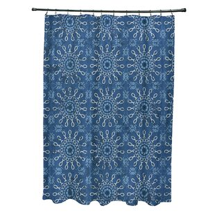 Soluri Sun Tile Print Single Shower Curtain