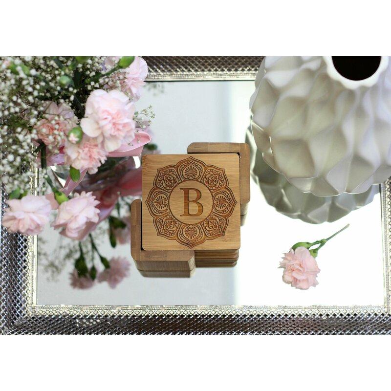 Dakota Fields Personalized Engraved Coaster Set With Holder Wayfair