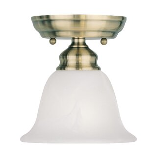 Cicco 1-Light Semi Flush Mount by Charlton Home