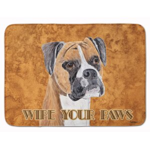 Boxer Wipe your Paws Memory Foam Bath Rug