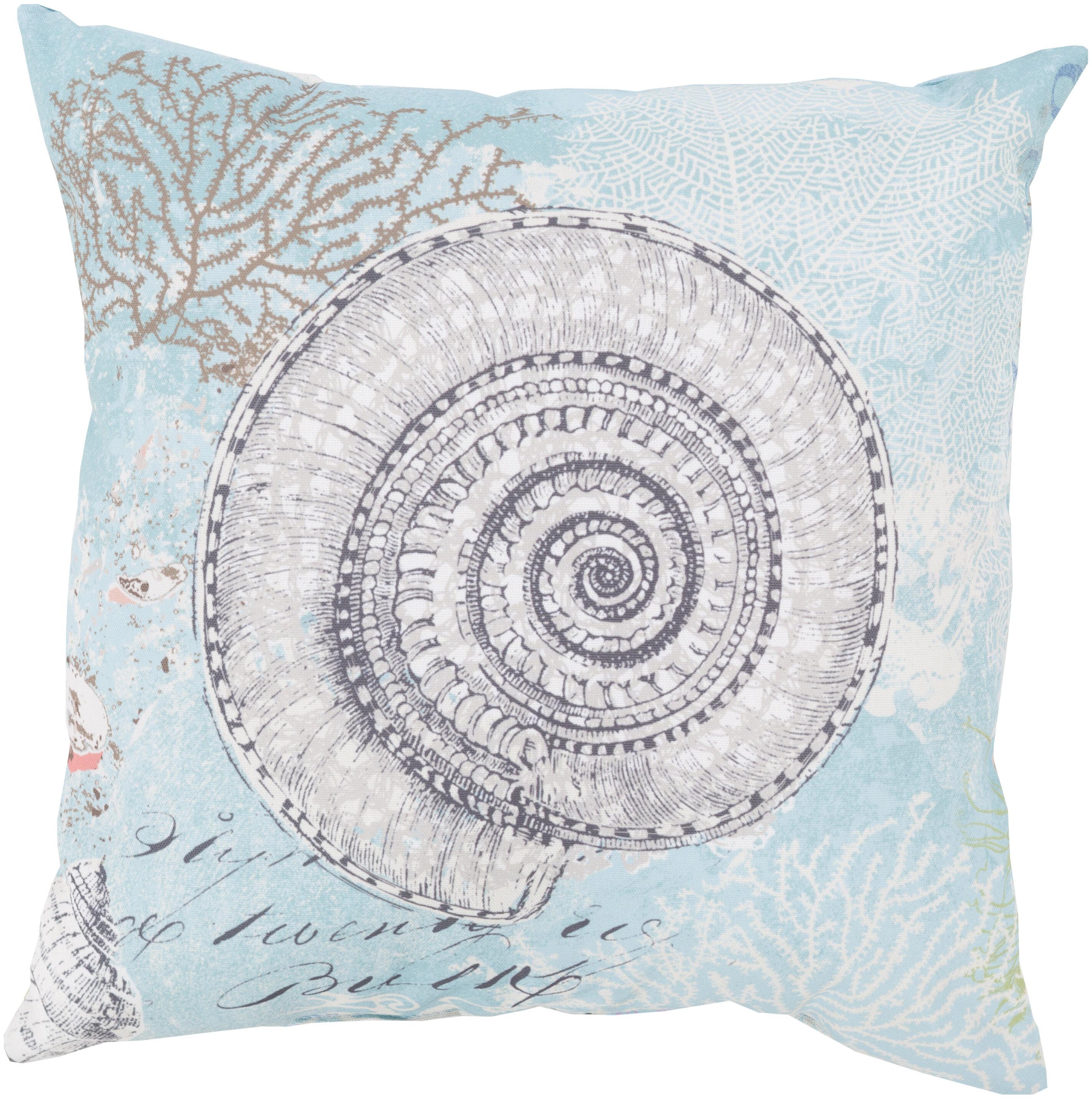 Highland Dunes Chaucer Mesmerizing Sea Shell Outdoor Throw Pillow Reviews Wayfair