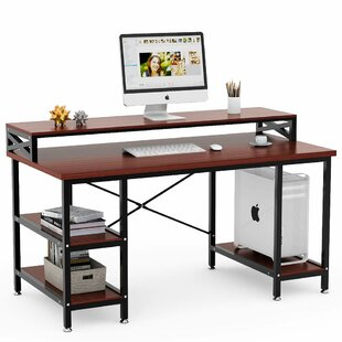 Peak Computer Desk by Williston Forge Cheap