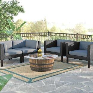 Zoar 4 Piece Sofa Set with Cushions