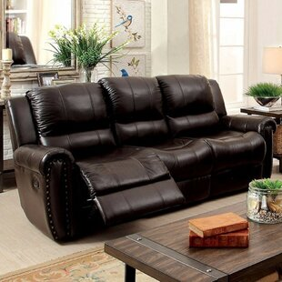 Garces Leatherette Recliner Sofa Red Barrel Studio