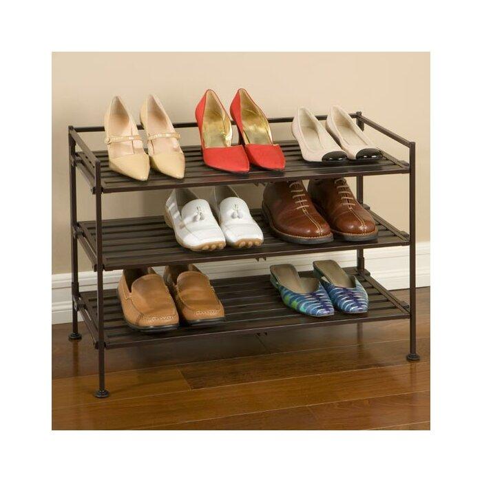 utility 3tier 9 pair stackable shoe rack