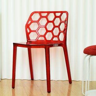 Brayden Studio Stagner Transparent Armless Dining Chair (Set of 4)