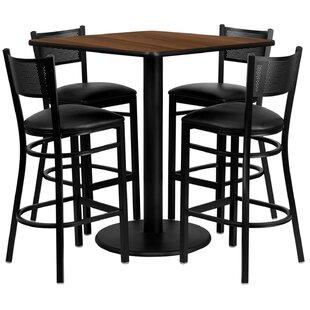 Lomonaco 5 Piece Pub Table Set Winston Porter