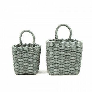 Wicker/Rattan 2 Piece Basket Set by Ophelia & Co.