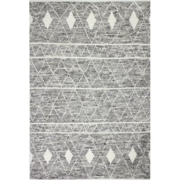 Elwyn Hand Knotted Wool Gray Area Rug Reviews Birch Lane