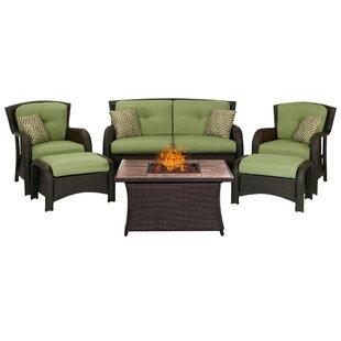 Brayden Studio Billington 6 Piece Sofa Set with Cushions