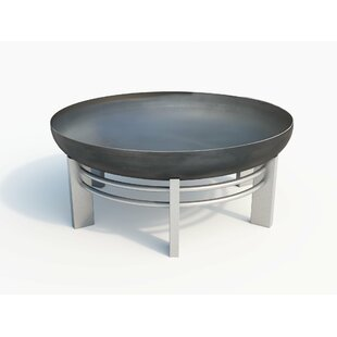 Jura Stainless Steel Wood Burning Fire Pit By Curonian