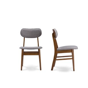 Lannie Upholstered Dining Chair (Set of 2) Wrought Studio