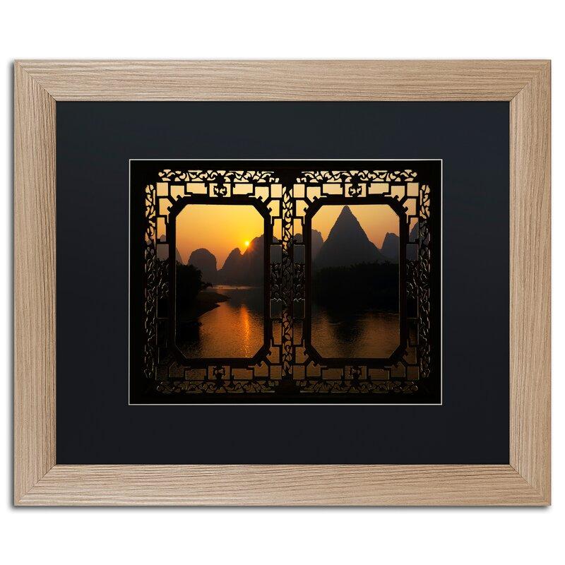 Trademark Art Sunrise View By Philippe Hugonnard Framed Photographic Print Wayfair