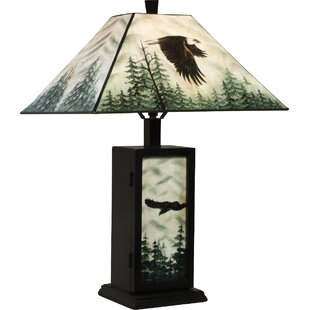 Affordable Hand Painted Eagle 23 Table Lamp By AA Importing