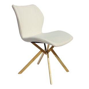 Everly Quinn Shirleen PU Side Chair (Set of 4)