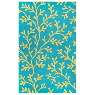 Maryland Hand-Tufted Teal Indoor/Outdoor Area Rug
