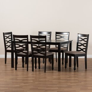 Dinis 7  Piece Solid Oak Dining Set by Red Barrel Studio
