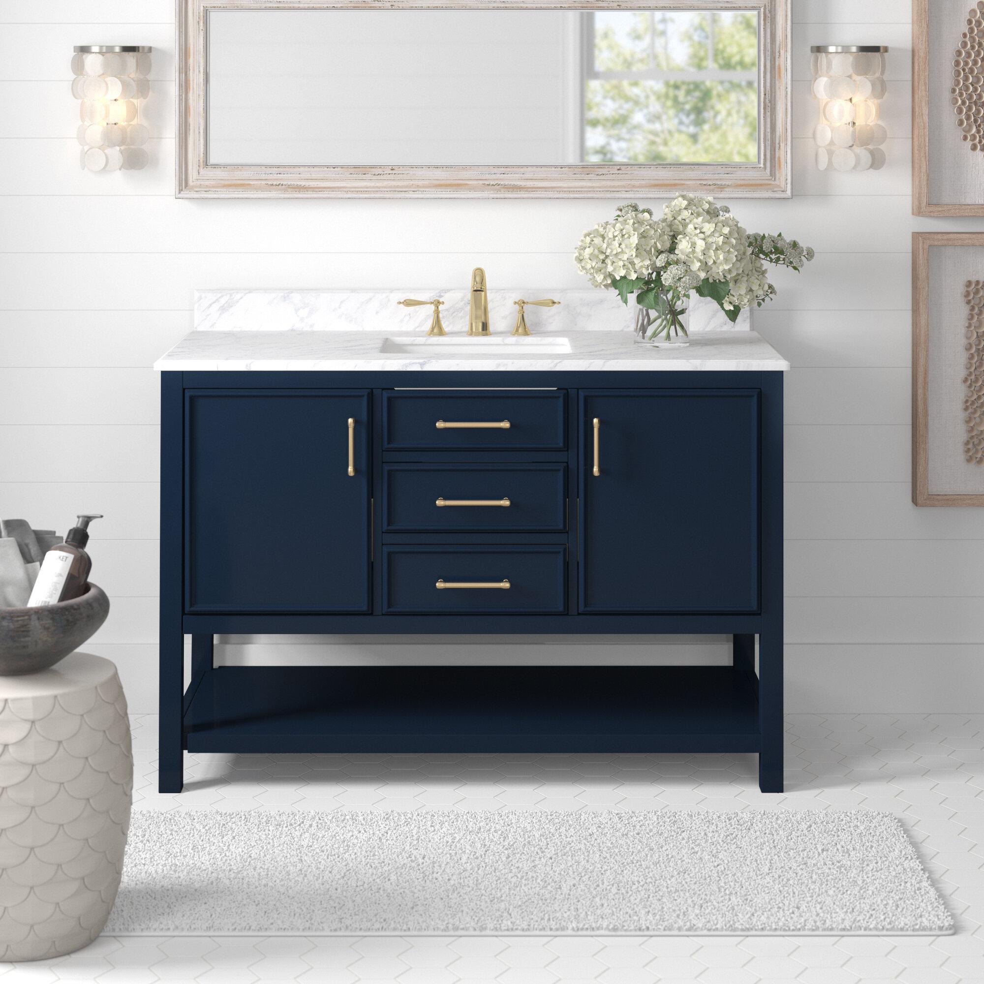 Coastal Farmhouse College 49 Single Bathroom Vanity Set Reviews Wayfair