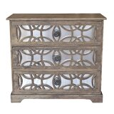 Konen 3 Drawer Accent Chest by Bungalow Rose