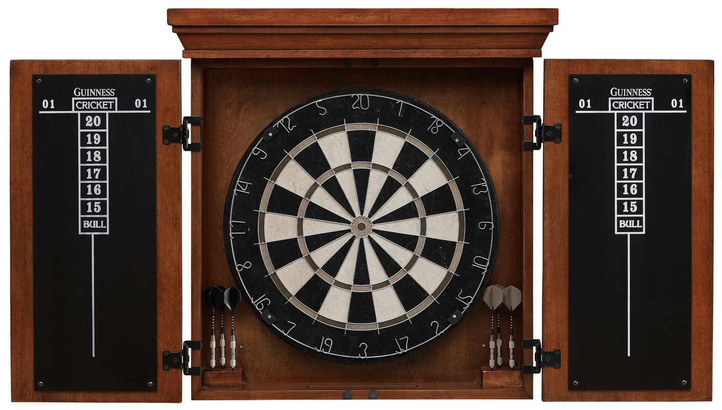 American Heritage Guinness Dartboard Cabinet Set & Reviews | Wayfair