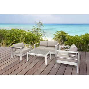 Susan Outdoor 4 Piece Sofa Seating Group with Cushions