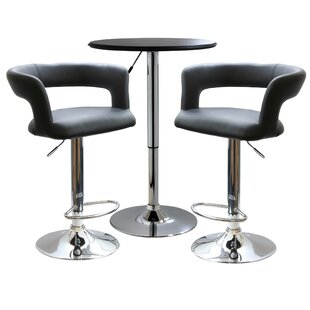 Southampton Modern Curvey 3 Piece Pub Table Set by Latitude Run