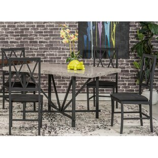 Ideal Faux Concrete 5 Piece Dining Set