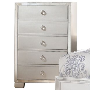 Chamblin Mirrored 5 Drawer Chest