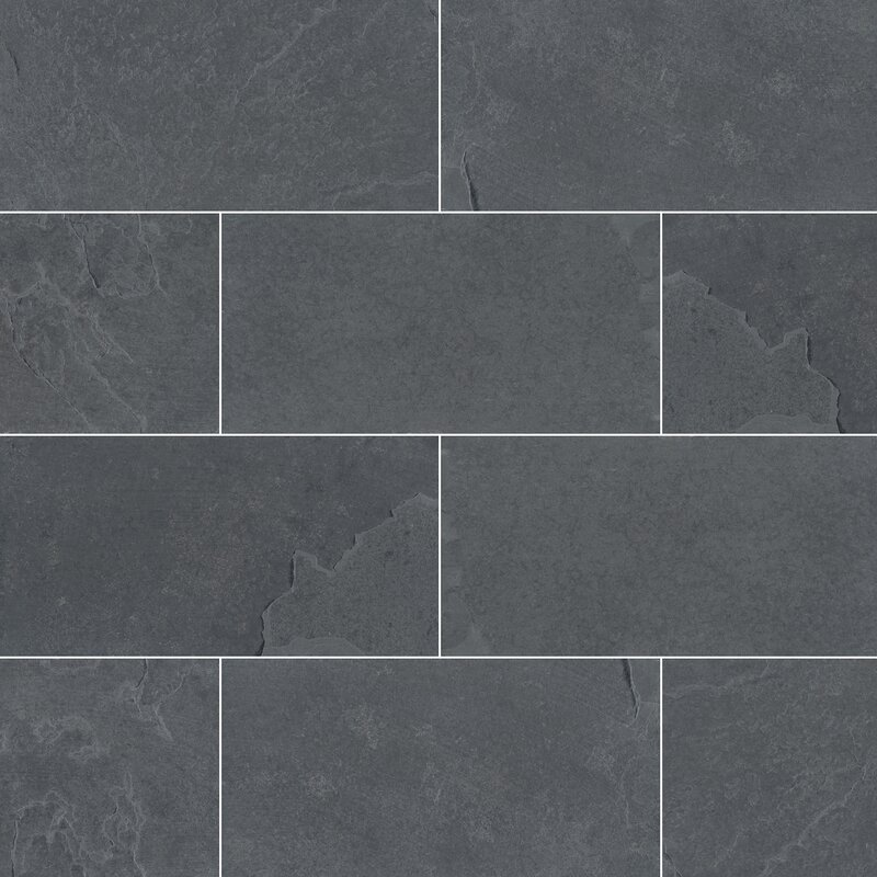 Montauk 3 X 6 Slate Subway Tile In Gray
