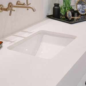 Ladena Ceramic Rectangular Undermount Bathroom Sink