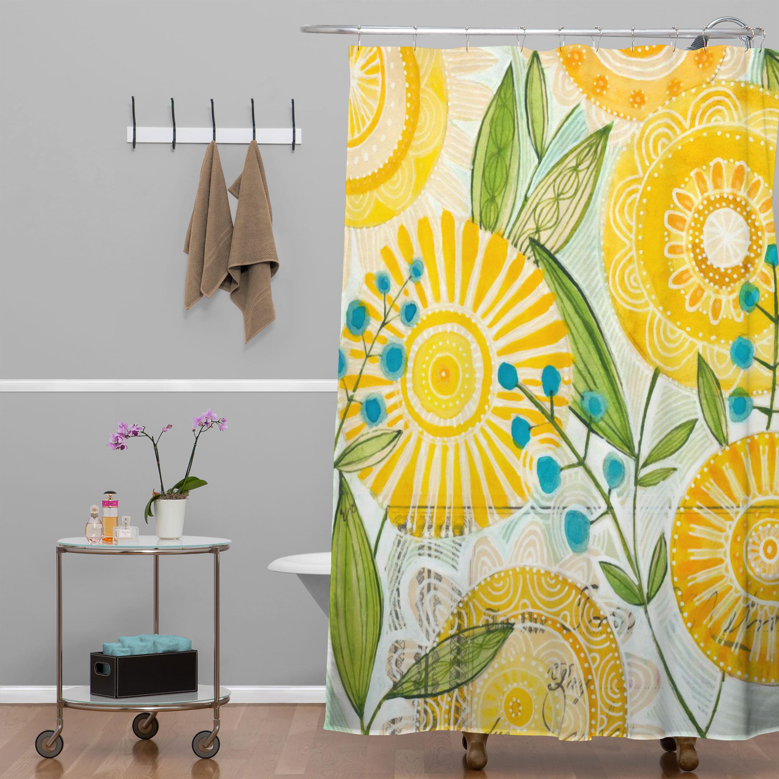 Deny Designs Cori Dantini Sun Burst Flowers Shower Curtain Reviews Wayfair