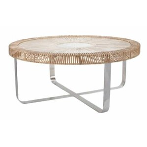Split Rattan Coffee Table by Lazy Susan USA